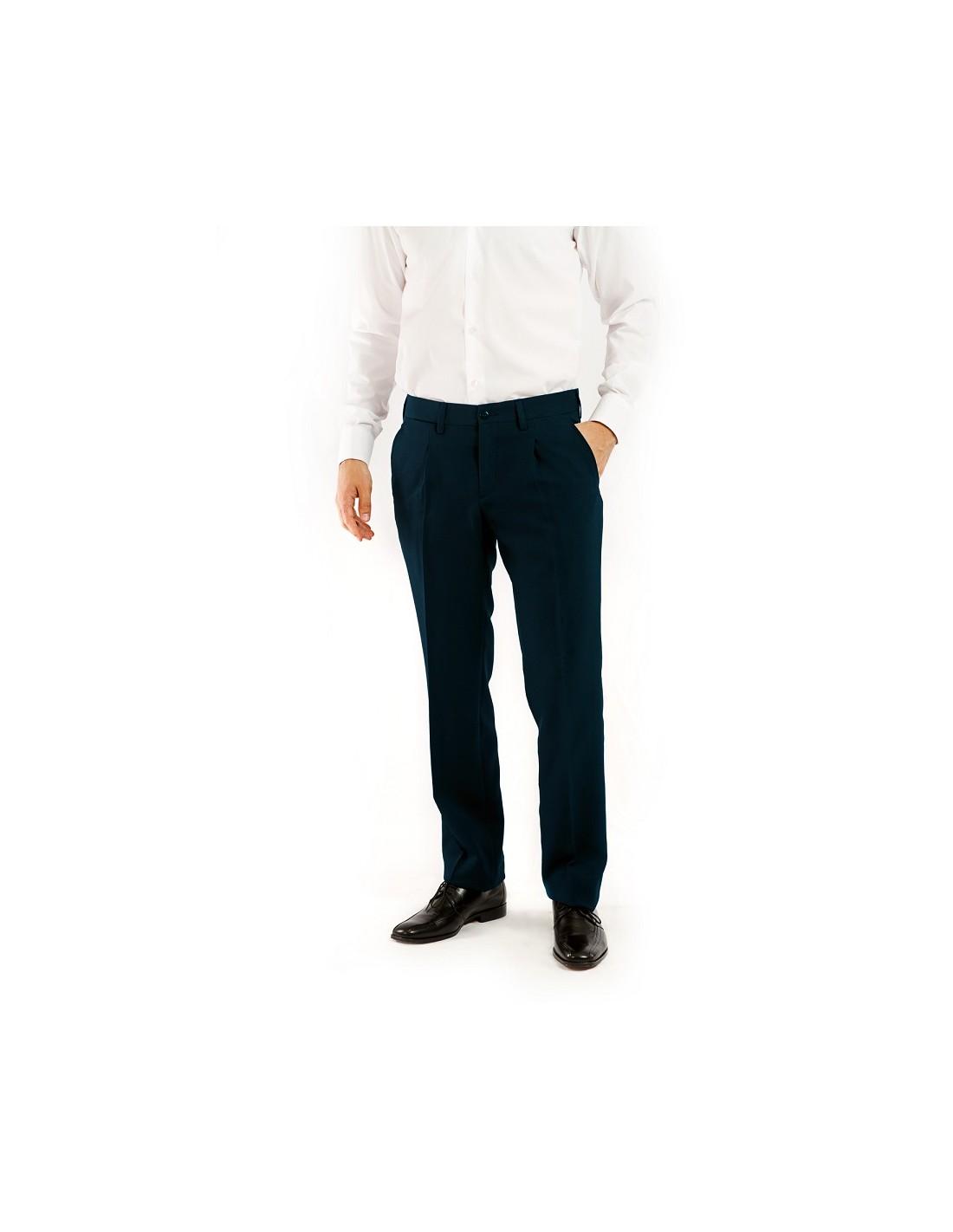 Pantalon Caballero Vestir 103 6179 Tallas Grandes Talla 60 Color Marino