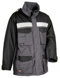 ANORAK GUST GRIS OSCURO NEGRO